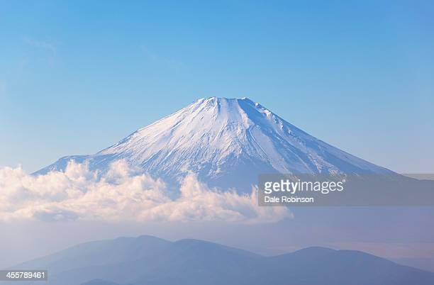 fuji-san from the east - mt fuji stock photos and pictures
