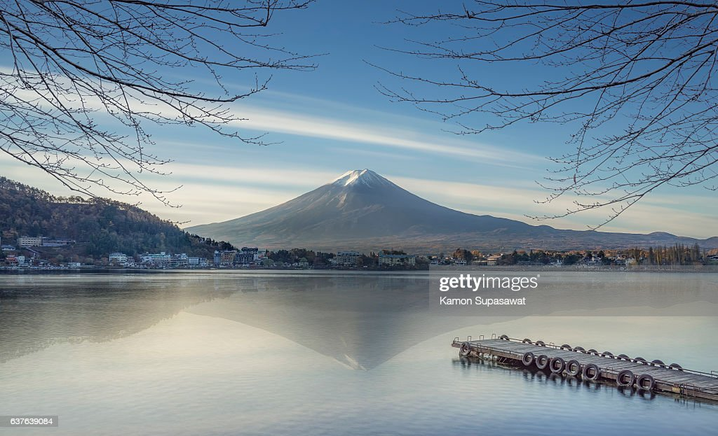Fujisan the most famous mountain in Japan : Stock Photo