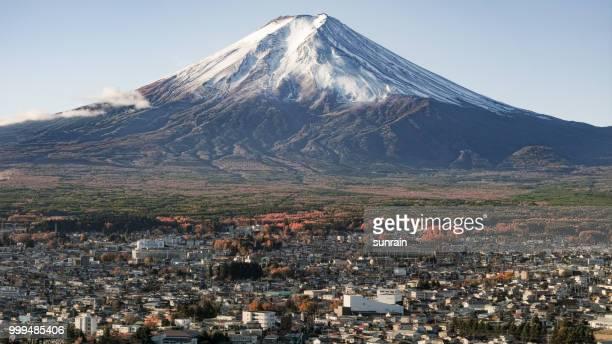 Fujisan with snow