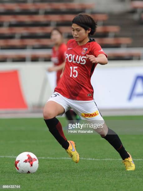 Fuka Nagano of Urawa Red Diamonds Ladies in action during the Nadeshiko League Cup Group B match between Urawa Red Diamonds Ladies and Chifure AS...