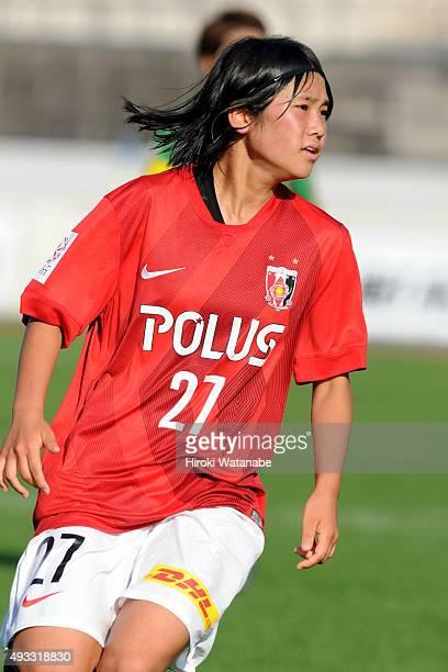 Fuka Nagano of Urawa Reds Ladies in action during the Nadeshiko League match between Urawa Red Diamonds Ladies and NYV Beleza at Urawa Komaba Stadium...