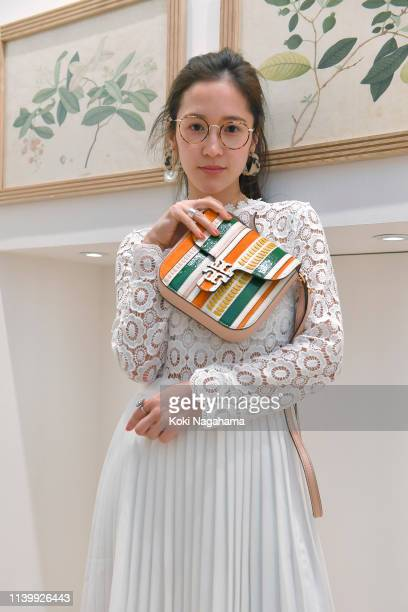 Fuki attends the Tory Burch Ginza Boutique Opening on April 02 2019 in Tokyo Japan