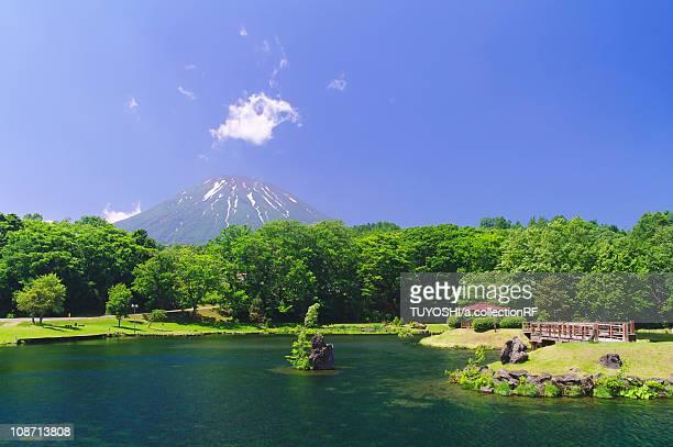 Fukidashi Park and Mt. Yotei, Hokkaido Prefecture, Japan