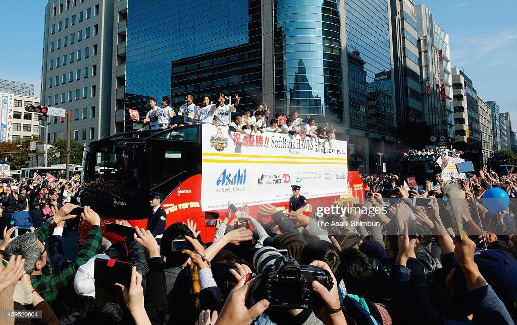 Fukuoka SoftBank Hawks Victory Parade : News Photo