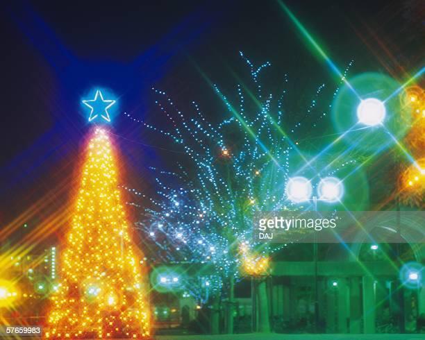 Fukuoka Tower in Christmas