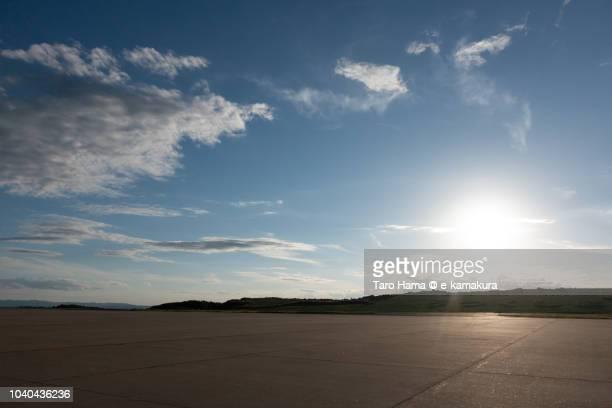 Fukushima Airport (FKS) in Fukushima prefecture in Japan in the sunset