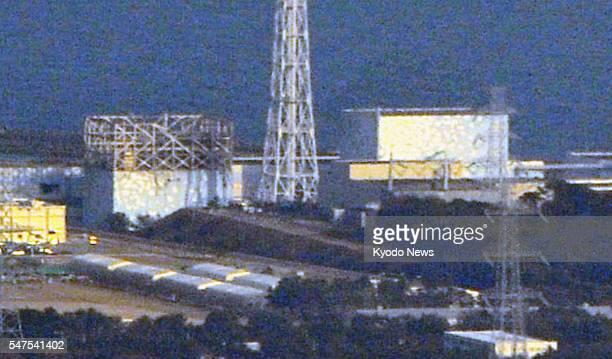 Fukushima Japan Photo shows the quakehit Fukushima No 1 nuclear power plant's No 1 and No 2 reactors operated by Tokyo Electric Power Co in Fukushima...