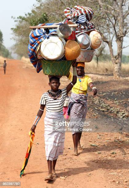 fulani women, benin - dietmar temps stock photos and pictures