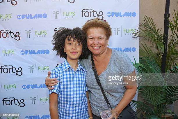 DJ Fulano and Debra L Lee attend DJ Fulano's Birthday Bash at Rooftop 48 on July 12 2014 in New York City