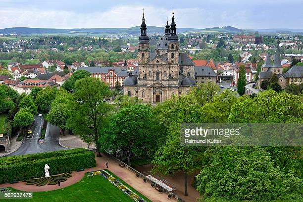 Fuldaer Dom, castle gardens, Fuldaer Stadtschloss City Palace, Fulda, Hesse, Germany