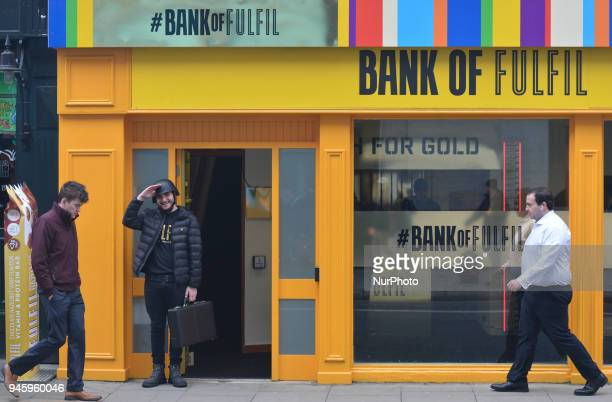 Fulfil launches a new flavour at #BankofFulfil Pop Up in Dublin's City Center On Friday April 13 in Dublin Ireland