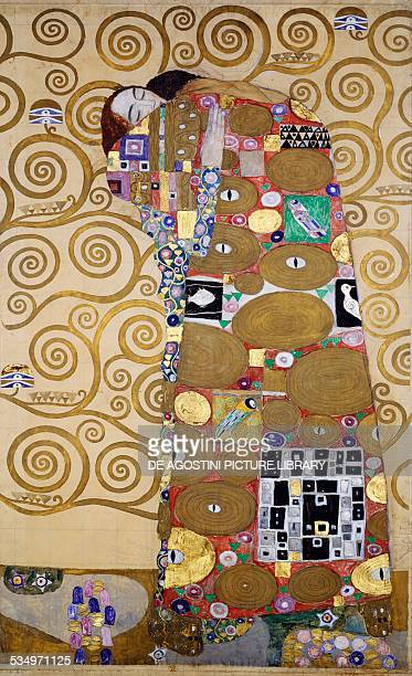Fulfillment 19051909 by Gustav Klimt cartoon for the frieze of Villa Stoclet in Brussels 195x120 cm Austria 20th century Vienna Österreichischer...