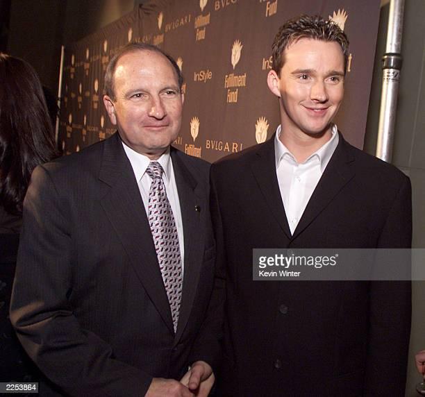 Fulfillment Fund Chairman Dr Gary Gitnick and Russell Watson at the Fulfillment Fund's 'Stars 2001' Benefit Gala honoring Jeffrey Katzenberg at...