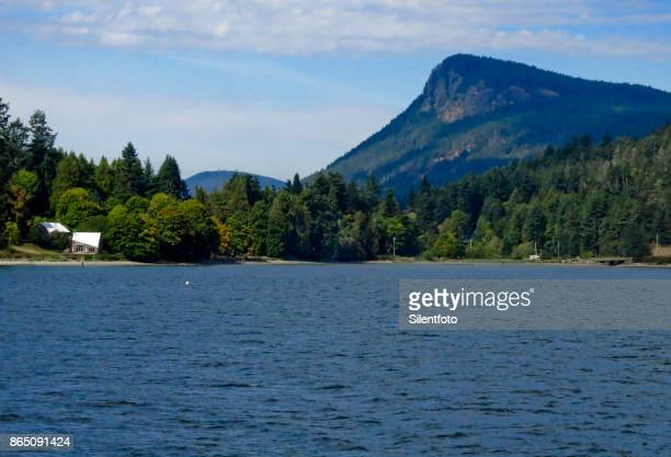 Fulford Harbour with Mount Maxwell Peak, Salt Spring Island, BC Gulf Islands