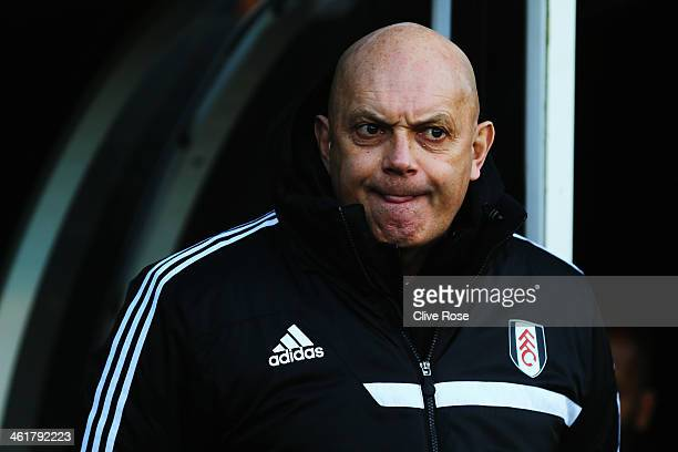 Fulham assistant head coach Ray Wilkins looks on before the Barclays Premier League match between Fulham and Sunderland at Craven Cottage on January...