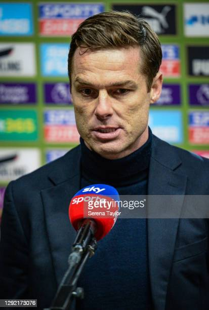 Fulham FC First Team Coach Scott Parker during the Premier League match between Newcastle United and Fulham at St. James Park on December 19, 2020 in...