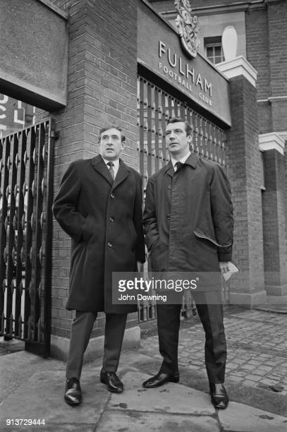 Fulham FC's soccer player Johnny Haynes and former soccer player and sport journalist Danny Blanchflower London UK 22nd February 1968