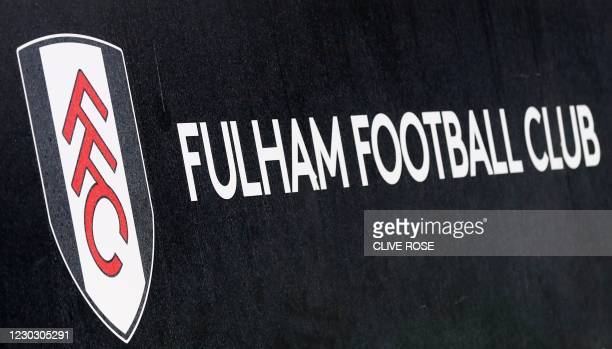 Fulham Football Club sign during the English Premier League football match between Fulham and Southampton at Craven Cottage in London on December 26,...