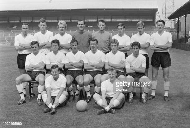 Fulham Football Club team portrait ahead of the 1965/66 season at the club's Craven Cottage in London, England, 13th August 1965.