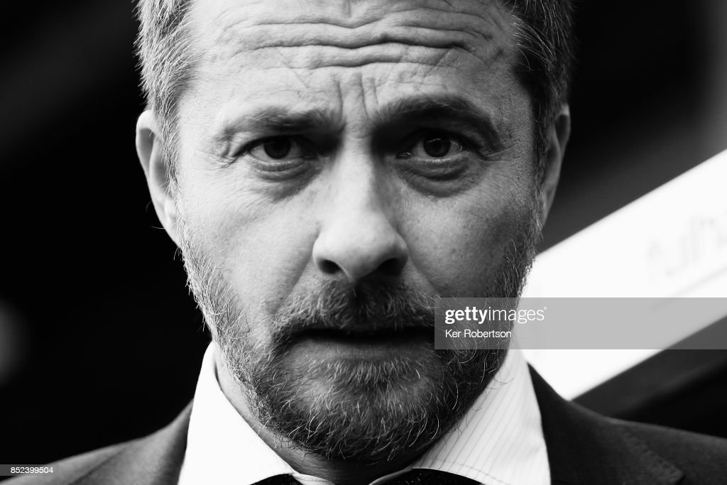 Fulham Head Coach Slavisa Jokanovic looks on during the Sky Bet Championship match between Fulham and Middlesbrough at Craven Cottage on September 23, 2017 in London, England.