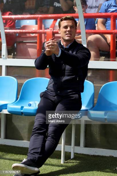 Fulham Manager Scott Parker during the Pre-Season Friendly match between Brighton and Hove Albion and Fulham at EBB Stadium on July 20, 2019 in...