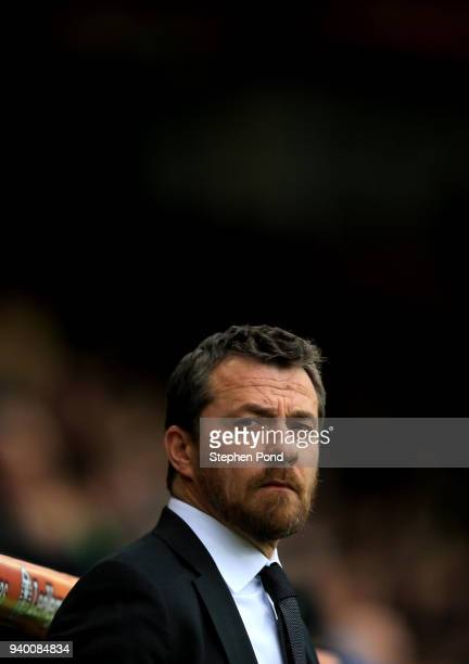 Fulham manager Slavisa Jokanovic during the Sky Bet Championship match between Norwich City and Fulham at Carrow Road on March 30 2018 in Norwich...