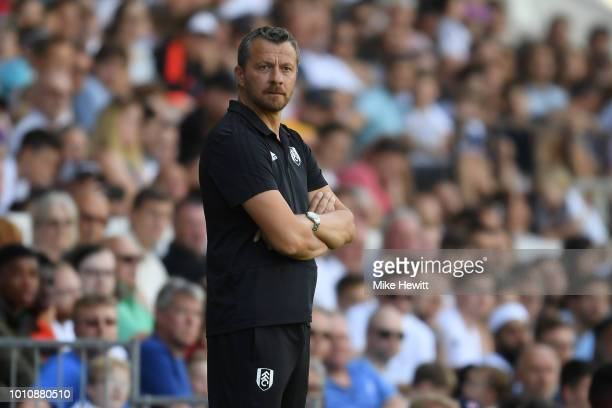 Fulham manager Slavisa Jokanovic looks on during a PreSeason Friendly between Fulham and Celta Vigo at Craven Cottage on August 4 2018 in London...