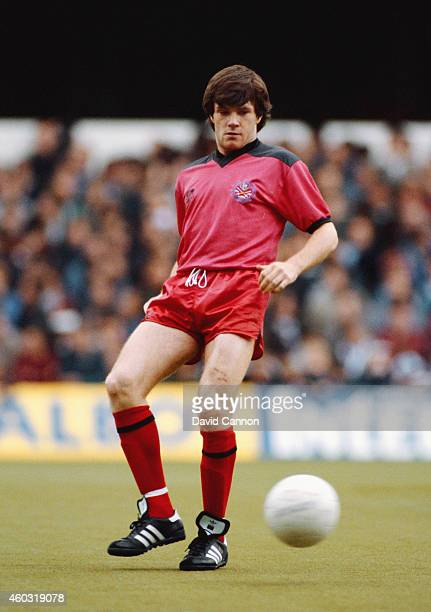 Fulham player Ray Houghton in action during a League Division Two match between Queens Park Rangers and Fulham at Loftus Road on May 2, 1983 in...