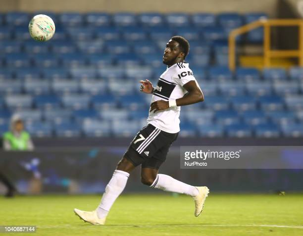 Fulham's Aboubakar Kamara during Carabao Cup 3rd Round match between Millwall and Fulham at The Den Ground London England on 25 Sept 2018