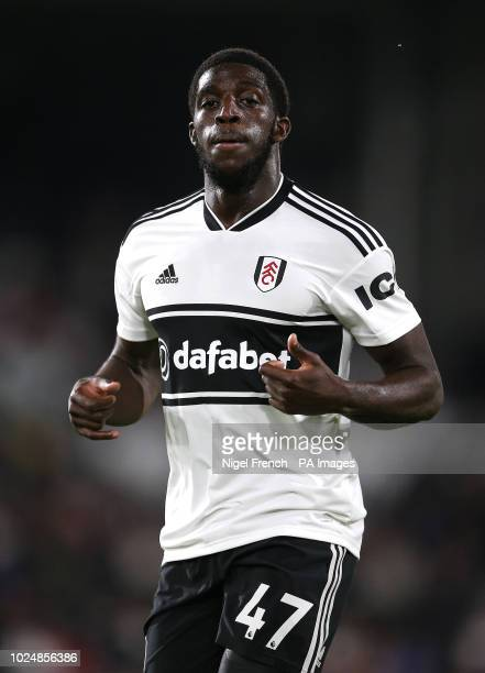 Fulham's Aboubakar Kamara during the Carabao Cup second round match at Craven Cottage London