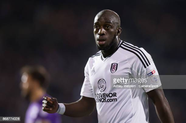 Fulham's Aboubakar Kamara during the Sky Bet Championship match between Fulham and Bristol City at Craven Cottage on October 31 2017 in London England
