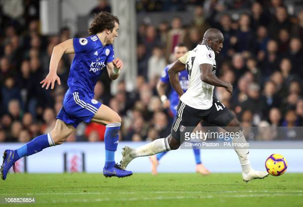 Fulham's Aboubakar Kamara in action during the Premier League match at Craven Cottage London