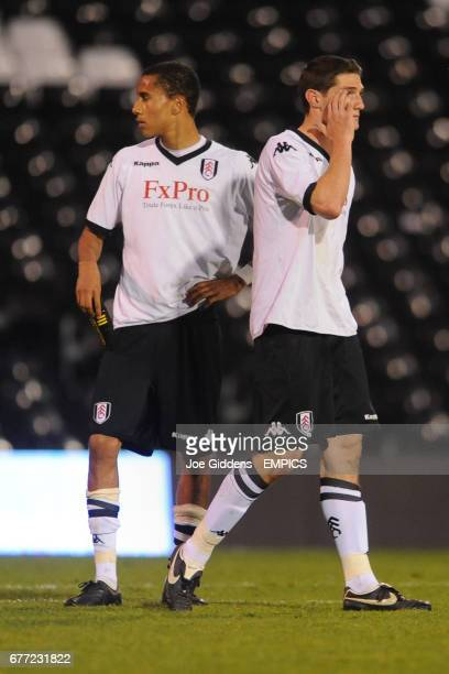 Fulham's Alex Smth and Corey Gameiro stand dejected