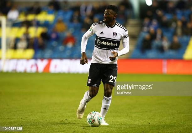 Fulham's AndreFrank Zambo Anguissa during Carabao Cup 3rd Round match between Millwall and Fulham at The Den Ground London England on 25 Sept 2018