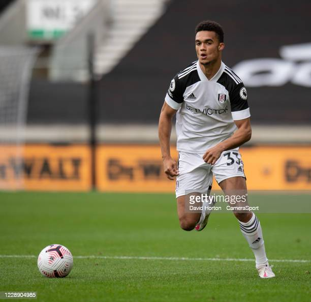 Fulhams Antonee Robinson during the Premier League match between Wolverhampton Wanderers and Fulham at Molineux on October 4 2020 in Wolverhampton...