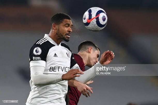 Fulham's English midfielder Ruben Loftus-Cheek vies with Wolverhampton Wanderers' Portuguese midfielder Daniel Podence during the English Premier...
