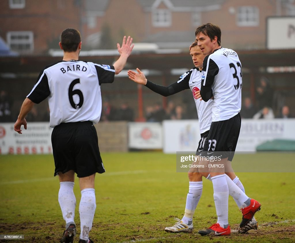 Soccer - FA Cup - Fourth Round - Accrington Stanley v Fulham - Crown Ground : News Photo