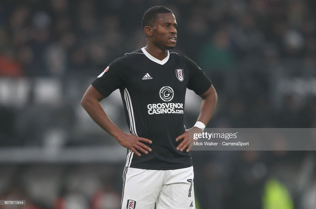 Fulham's Floyd AyitÈ during the Sky Bet Championship match between Derby County and Fulham at iPro Stadium on March 3, 2018 in Derby, England.