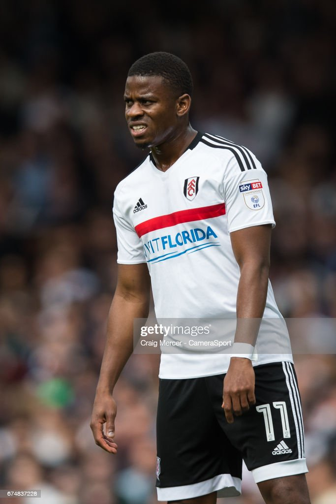 Fulham's Floyd Ayite during the Sky Bet Championship match between Fulham and Brentford at Craven Cottage on April 29, 2017 in London, England.