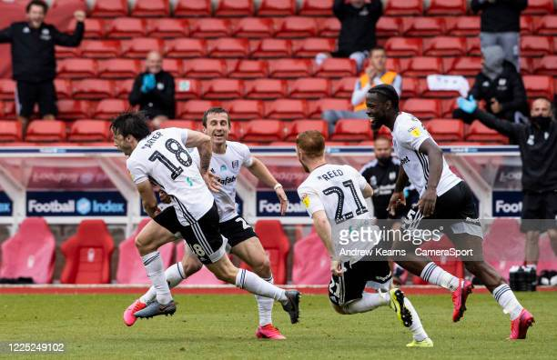 Fulham's Harry Arter celebrates scoring his side's first goal during the Sky Bet Championship match between Nottingham Forest and Fulham at City...