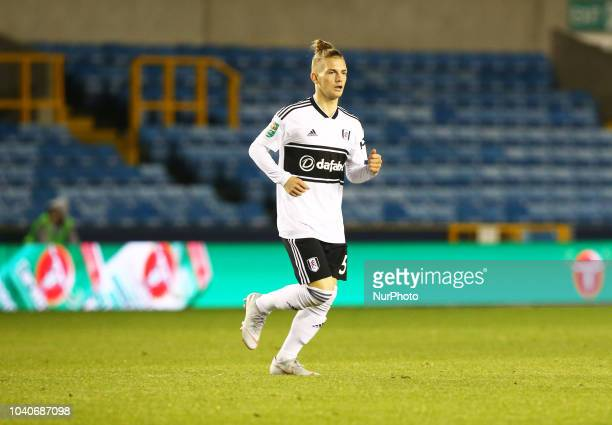 Fulham's Harvey Elliott during Carabao Cup 3rd Round match between Millwall and Fulham at The Den Ground London England on 25 Sept 2018
