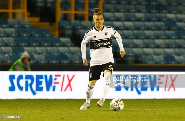 Fulham's Harvey Elliott during Carabao Cup 3rd Round match between Millwall and Fulham at The Den Ground, London, England on 25 Sept 2018.