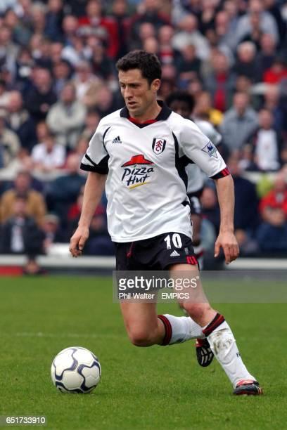 Fulham's John Collins in action against West Ham United