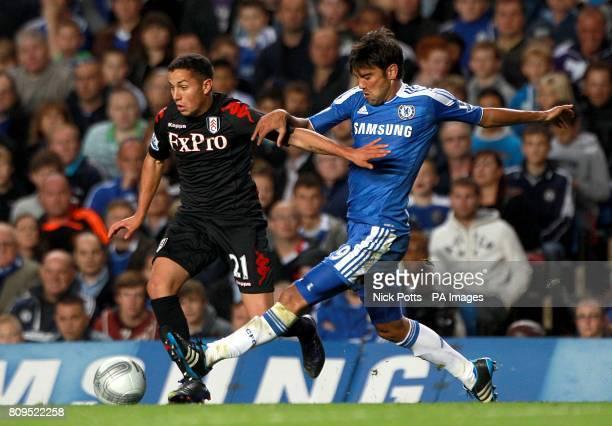 Fulham's Kerim Frei and Chelsea's Paulo Ferreira in action