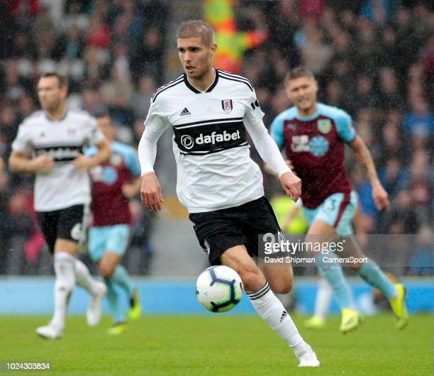 Fulham's Maxime Le Marchand in action during the Premier League match between Fulham FC and Burnley FC at Craven Cottage on August 26 2018 in London...