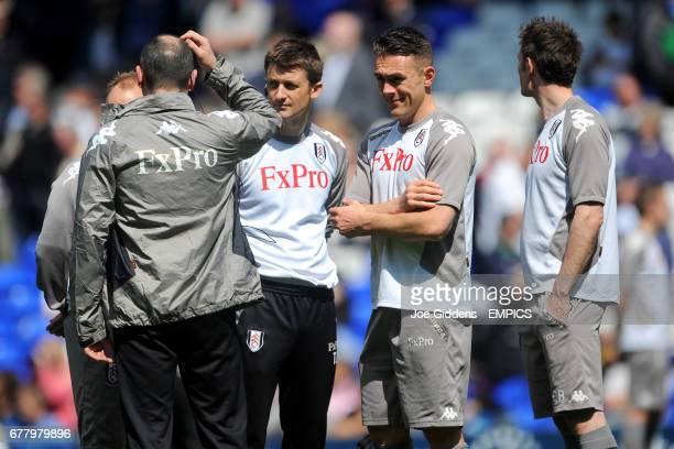 Fulham's medical team of doctor Steve Lewis physio Tom Jackson chiropractor Dave Cosgrove and osteopath Chris Bull