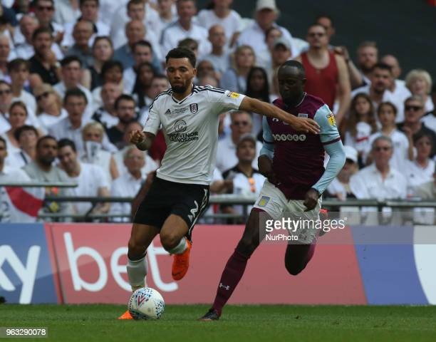 Fulham's Ryan Fredericks during the Championship PlayOff Final match between Fulham and Aston Villa at Wembley London England on 26 May 2018