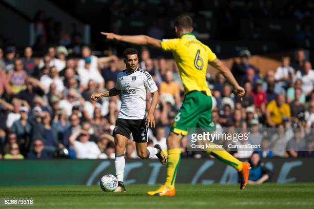 Fulham's Ryan Fredericks in action during the Sky Bet Championship match between Fulham and Norwich City at Craven Cottage on August 5 2017 in London...