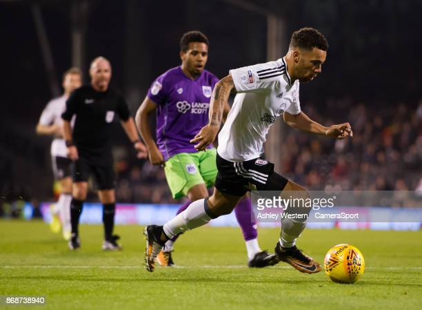 Fulham's Ryan Fredericks in action during the Sky Bet Championship match between Fulham and Bristol City at Craven Cottage on October 31 2017 in...