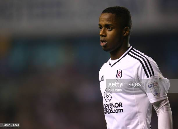 Fulham's Ryan Sessegnon during Championship match between Millwall against Fulham at The Den stadium London England on 20 April 2018